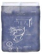 1936 Toilet Bowl Patent Blue Grunge Duvet Cover