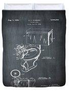 1936 Toilet Bowl Patent Chalk Duvet Cover