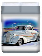 1937 Chevrolet Coupe 'accent Graphics' Duvet Cover