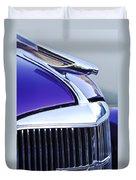 1937 Chevrolet Hood Ornament 2 Duvet Cover
