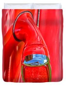 1937 Chevy Coupe Tail Light Duvet Cover