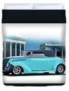 1937 Ford 'classic' Cabriolet Duvet Cover