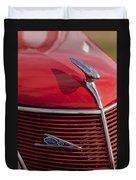 1937 Ford Hood Ornament Duvet Cover