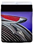 1937 Hudson Terraplane Sedan Hood Ornament 2 Duvet Cover