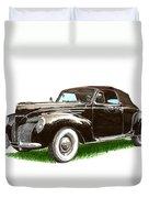 1937 Lincoln Zephyer Duvet Cover