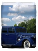 1937 Packard 120 Duvet Cover by Tim McCullough