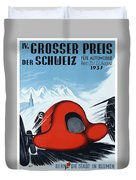 1937 Switzerland Grand Prix Racing Poster Duvet Cover