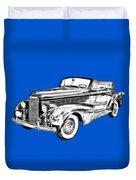 1938 Cadillac Lasalle Illustration Duvet Cover