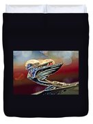 1938 Cadillac V-16 Sedan Hood Ornament Duvet Cover