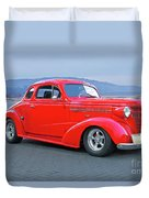 1938 Chevrolet 'all Business. Coupe Duvet Cover