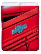 1938 Chevrolet Pickup Truck Emblem Duvet Cover