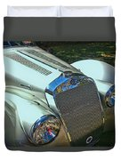 1938 Delage D8 - 120 Aerodynamic Coupe Front Grill Duvet Cover