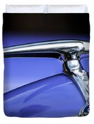 1938 Ford Coupe Hood Ornament Duvet Cover