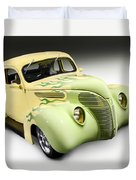 1938 Hot Rod Ford Coupe Duvet Cover