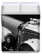 1938 Jaguar Ss100 3.5-liter Roadster Grille Duvet Cover