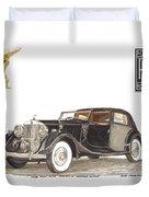 1938 Rolls Royce Phantom I I I Sedanca Deville Duvet Cover