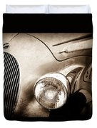 1938 Talbot-lago 150c Ss Figoni And Falaschi Cabriolet Headlight - Emblem -1554s Duvet Cover