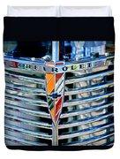1939 Chevrolet Coupe Grille Emblem Duvet Cover