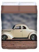 1939 Chevrolet White Coupe Duvet Cover