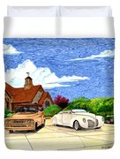 1939 Lincoln Zephyr  Family Home Duvet Cover