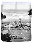 1939 Treasure Island View Duvet Cover