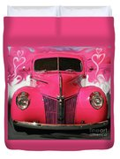 1940 Classic Hot Pink Ford Duvet Cover