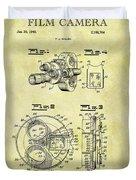 1940 Film Camera Patent Duvet Cover
