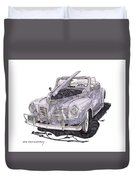 1940 Plymouth P 1 Convertible Duvet Cover