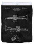 1940 Trumpet Patent Illustration Duvet Cover