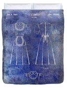 1940 Waitress Uniform Patent Blue Duvet Cover