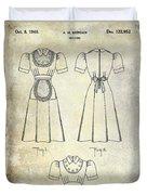 1940 Waitress Uniform Patent Duvet Cover