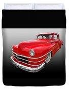 1940s Custom Chrysler New Yorker In Red Duvet Cover