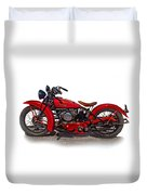 1940's Indian Motorcycle Duvet Cover