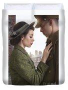 1940s Lovers Duvet Cover