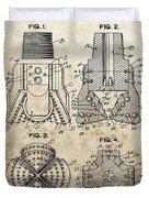 1940s Oil Drill Bit Patent Duvet Cover