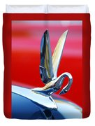 1940's Packard Cormorant Hood Ornament Duvet Cover