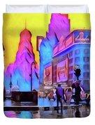 1940s Times Square Rain Duvet Cover