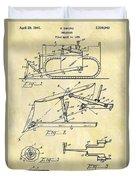 1941 Bulldozer Patent Duvet Cover