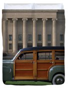 1941 Ford Super Deluxe Country Squire Woody Station Wagon Duvet Cover by Tim McCullough