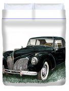 1941 Lincoln Continental Mk 1 Duvet Cover by Jack Pumphrey