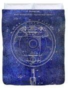 1941 Porsche Brake Mechanism Patent Blue  Duvet Cover