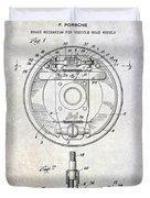 1941 Porsche Brake Mechanism Patent Duvet Cover