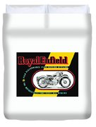 1941 Royal Enfield Motorcycle Ad Duvet Cover