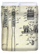 1941 Toothbrush Patent  Duvet Cover