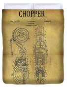 1942 Chopper Motorcycle Patent Duvet Cover