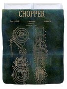 1942 Grunge Chopper Motorcycle Patent Duvet Cover