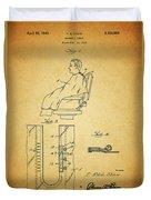 1943 Barber Apron Patent Duvet Cover
