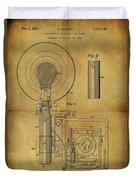 1943 Camera Flash Patent Duvet Cover