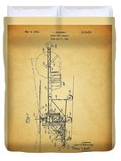 1943 Helicopter Patent Duvet Cover