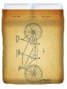 1945 Schwinn Tandem Bicycle Duvet Cover